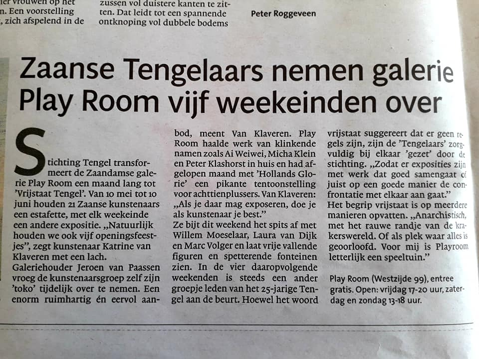 Nieuwbericht over expositie Tengel in PLAY room